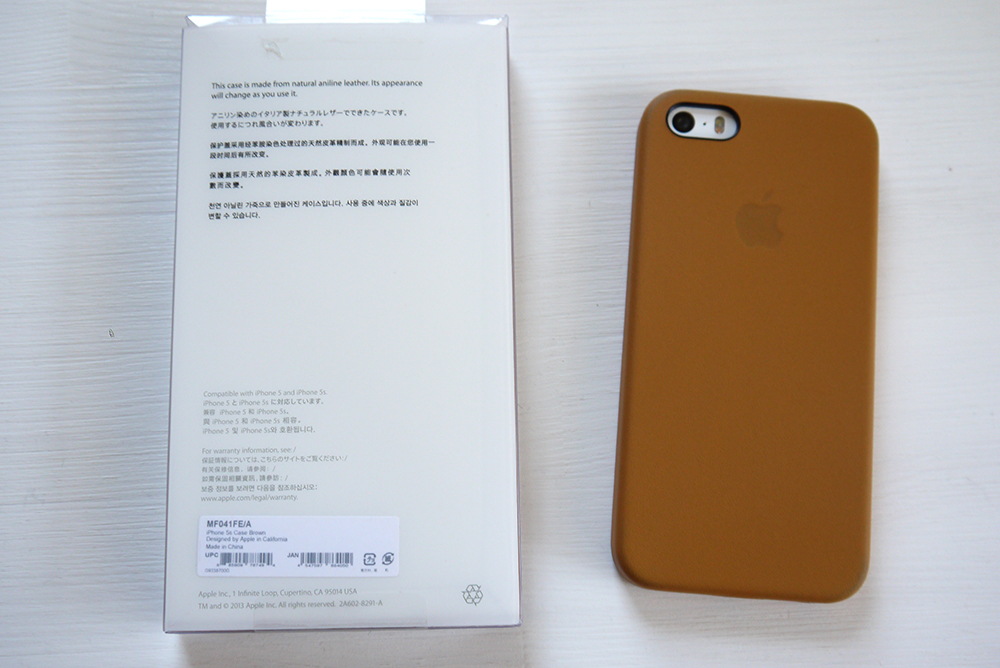 iPhone 5s Case - Brown 使用レビュー